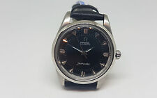 Rara Vintage OMEGA Seamaster Dial Negro Reloj automático hombre logotipo Big Caballito de mar