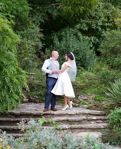 tea length wedding dress size 12 with pockets!