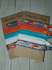 Choose Set of Five Miami Dolphins No Pull No Crease FOE Hair Ties Stocking Stuff