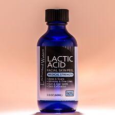 2 oz LACTIC Acid Skin Peel- 90% - For: Acne, Scars, Wrinkles, Melasma, Age Spots