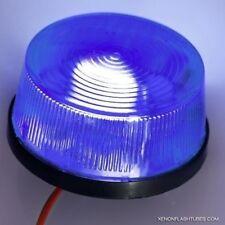 12v LED BLUE Strobe Round Flashing CAR PARTY Warning LIGHT Beacon Alarm Bike