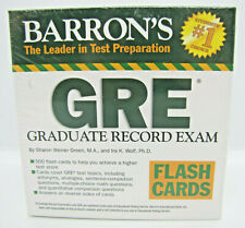 Barron's GRE Flash Cards by Sharon Weiner Green and Ira K. Wolf (2008)