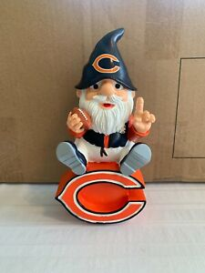 """Chicago Bears NFL Garden Team Gnome 9.5"""" Forever Collectibles Brand New"""