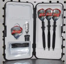 Viper Darts Black 22 gm Steel Tip Dart Set-Budweiser Flights