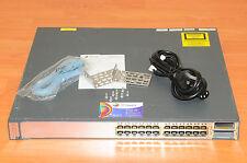 CISCO WS-C3750E-24PD-E Switch, 24x10/100/1000 PoE + 2x10GE w/ Rack 6MthWtyTaxInv
