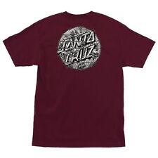 Santa Cruz Abyss Dot Skateboard T Shirt Burgundy Medium