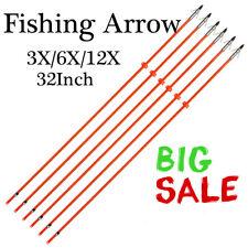 "32""Archery Bowfishing Arrow Fishing Hunting Arrows with Fiberglass Arrow Shaft"