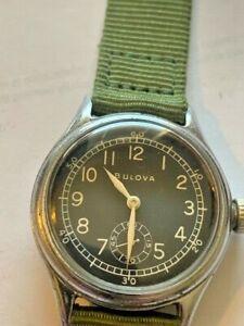 Sharp Bulova 10AK Military WWII Wrist Watch for sale