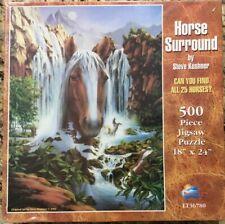 Sunsout Horse Surround 500 Piece Jigsaw Puzzle New Sealed! Rare Kushner LT36780