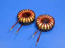 High Current Toroid inductors Lot of 2  60 Uh Micro Henries NEW 30 AMPS max