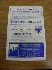 20/09/1969 BEDFORD Città V CORBY Town Fa Cup [] (piccolo segno sul cover). grazie per V