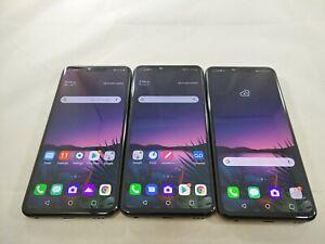 LOT of 3 LG G8 G820 GSM Unlocked 128GB Smartphones Black A352L