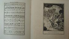 Musik von Laborde 1881 Trennwand Text und 2 Gravuren XIX. der Richter Integriert
