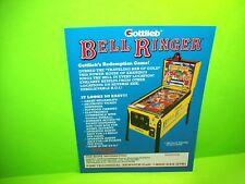 Gottlieb 1992 BELL RINGER Original NOS Pinball Machine + Redemption Arcade Flyer