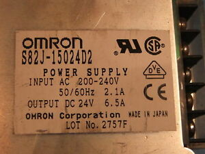 OMRON  S82J-15024D2 (S82J15024D2) DC Output 24V 6.5A Power supply