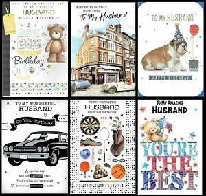 HUSBAND ~ QUALITY BIRTHDAY CARD choice of Design