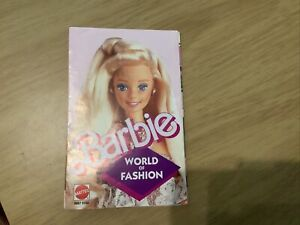 barbie world of fashion booklet