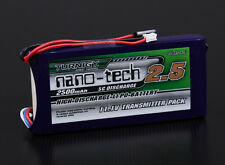 Turnigy nano-tech 2500mAh 3S1P 5~10C Transmitter Lipo Pack (Futaba 6EX and 3PKS)