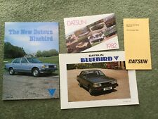 Datsun+Bluebird Car Brochures  1980 and 82 + price list October 1982