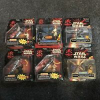 Hasbro Star Wars | Episode I - Lot of 6 Deluxe Figures & Accessories | Brand New