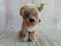 "Vintage 60's Steiff Mopsy Sitting Mohair Stuffed Dog 5"""