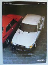 Prospekt Saab 900 GLi/GLE Modelle 1984, 1983, 8 Seiten, folder