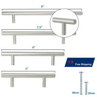 """ORGER Φ10mm Solid Stainless Steel T Bar Cabinet Handles Drawer Pull 2-9"""""""