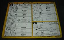 Inspektionsblatt Toyota Corolla Diesel FF AE 80 82 Werkstatt Service 08/1983!