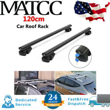 "2 x 48"" Aluminum Car Roof Rack Cross Bar Luggage Cargo Carrier Lockable w/Straps"