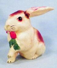 Vintage Rabbit Celluloid Toy Christmas Putz Decoration Train Display Large 55