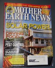MOTHER EARTH NEWS MAGAZINE AUG/SEP 2008 SOLAR POWER ORGANIC PEST CONTROL
