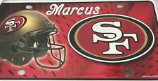 San Francisco 49ers License Plate Engraved NFL Personalized SF 49ers Car Vanity