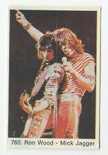 1970s Swedish Pop Star Card #760 Rolling Stones Mick Jagger Ronnie Wood