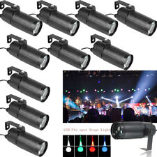 10PCS 10W Mini LED Stage Lighting Spin Pinspot Beam Spot Light Band Bar DJ Light