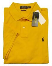 Special! Polo Ralph Lauren Men's Gold Yellow Custom Slim Fit Mesh S/S Polo Shirt
