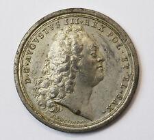 Medaille Zinn Friedrich August II. Frieden von Dresden 1745 Ø 4,4 cm 25 g Werner