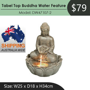 Table Top Buddha Water Feature Fountain Shipping Australia Wide DW47107-2