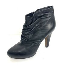 Cynthia Rowley Womens Marlene Boot Black Size 39 Ruched Leather Bootie