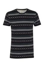 Soul Cal Men's Aztec Pattern T-shirt Navy Medium