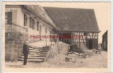 (F8520) Orig. Foto Elsenberg, Wohnhaus und Scheune in der Nr. 2, 1940