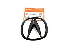 Acura TSX 04-08 RSX 02-06 Black Carbon Fiber Rear Trunk Emblem Genuine OEM Logo