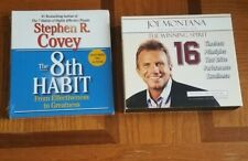 Joe Montana The Winning Spirit 16 & The 8th Habit By Stephen R Covey Audio...