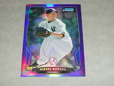 BOWMAN Chrome 2013 Hiroki KURODA #197 Purple Refractor #/199 New York YANKEES