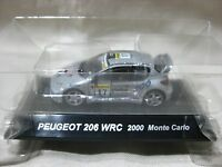 PEUGEOT 206 WRC 2000 Monte Carlo SS.8 1:64 Scale CM's Rally Car Collection
