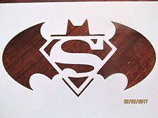 Batman Superman Stencil Reusable 10 mil Mylar Stencil