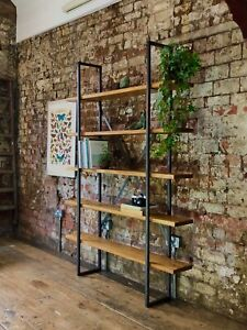 Industrial Shelving - Handmade Rustic Reclaimed Bookshelf - Bespoke Furniture