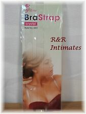1 Set Clear Crystal Invisible Bra Shoulder Straps by Fullness