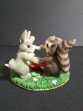 Fitz And Floyd Charming Tails Ring Around The Rosie Rabbit Mouse Raccoon.