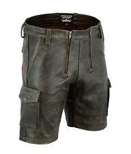 AW7525 Old Look Cuir Charpentier Shorts en Style De Cargo Vintage Zimmermann Bas