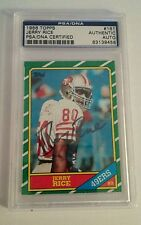 JERRY RICE 1986 TOPPS AUTOGRAPH HOF RC ROOKIE CARD SAN FRANCISCO 49ERS PSA/DNA